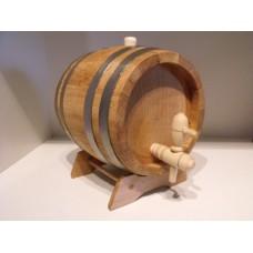 Hordó tölgyfa 3 literes, csappal, dugóval, állvánnyal