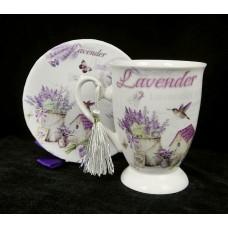 Bögre Lavender Post card 12 cm díszdobozban
