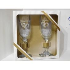 Pezsgős pohár szett*2 Menyasszony-Vőlegény