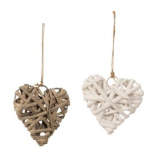 Szív dekoráció 7 cm 2 féle