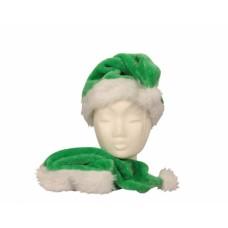 Mikulássapka zöld-fehér