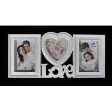 Képkeret osztott Love 3 képnek