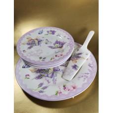 Süteményes tányérkészlet 6+1+1