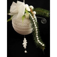 Karácsonyi óriás díszített gömb
