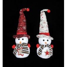 Hóember hegyes kalapban 35 cm