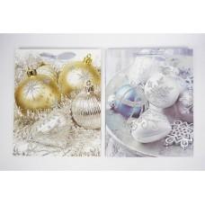 Dísztasak glitter Karácsony 4 féle