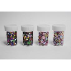 Kreatív szett konfetti és flitter 4 db-os