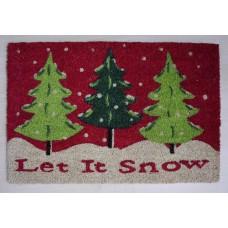 Karácsonyi lábtörlő Let it snow 60*40 cm