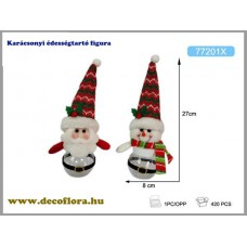 Karácsonyi édességtartó figura
