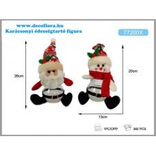 Karácsonyi édességtartó figura lábbal