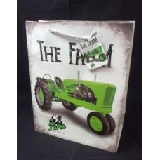 Dísztasak Zöld traktor L méret