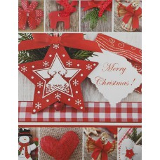 Dísztasak Karácsony piros