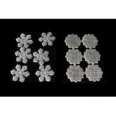 Glitteres hópelyhek dekorácós szett 6 db