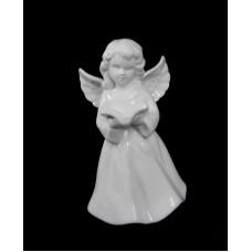 Porcelán angyal könyvvel