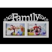 Képkeret osztott Family  2 képnek