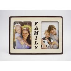 Képkeret - Family 2 db 10*15 cm