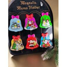 Hűtőmágnes karácsonyi harang 7 cm