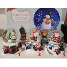 Hógömb Karácsonyi hangulat 65 mm 3 féle