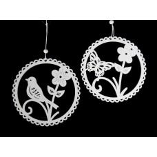 Tavaszi függö dekoráció fehér