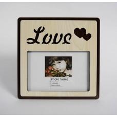 Képkeret négyzet alakú- Love 15*10 cm