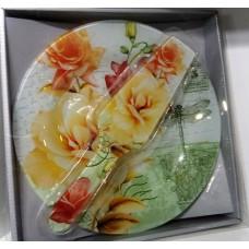 Tortatál tortalapáttal Vintage rózsák