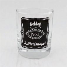 """Whiskeys pohár """"Boldog Születésnapot"""""""