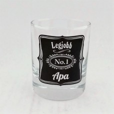 """Whiskeys pohár """"Legjobb apa"""""""