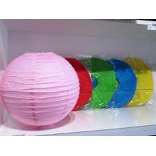 Lampion gömb 30 cm színek