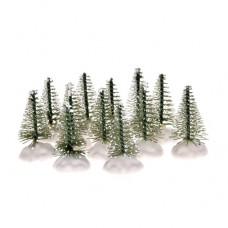Fenyő dekoráció mini műanyag 4,5cm zöld 12/szett