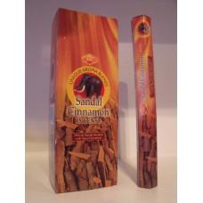 Füstölő pálca HEM (hexa) 20 db Sandal Cinnamon /Szantálfa fahéj /
