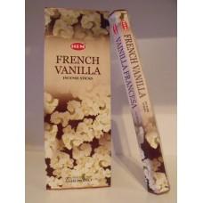 Füstölő pálca HEM (hexa) 20 db French Vanilla / Francia Vanilia /