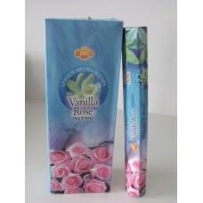 Füstölő pálca HEM (hexa) 20 db Vanilla  Rose / Vanilia-Rózsa /