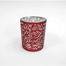 Mécsestartó pohár Merry and Bright 3 színben