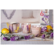 Poharas illatgyertya Exclusive Levendula&Citrom 115 g
