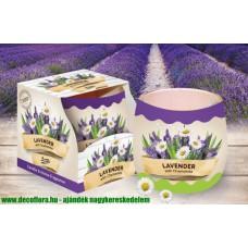 Poharas illatgyertya Santo Levendula-Kamilla 100 g