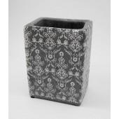 Kőhatású, mintás kerámia váza