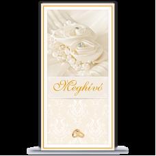 Esküvői meghívó, francia borítékos