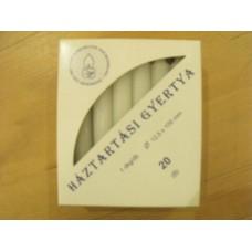 Gyertya fehér paraffin 20 db /1 dkg.